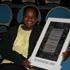 Een van de gelukkige winnaars 2009
